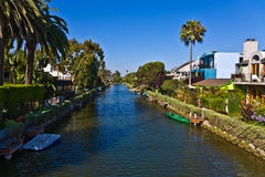 Canal in Venice, a beachfront neighborhood of Los Angeles Royalty Free Stock Photos