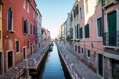Canal in Venice city in Italy Stock Photography