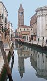 A canal of Venice - Italy. A photo of a romantic secret part of Venice - Italy stock images