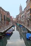 A canal of Venice - Italy. A photo of a romantic secret part of Venice - Italy stock photography