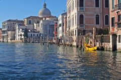 A canal of Venice - Italy. A typical water canal of Venice - Italy royalty free stock photo