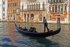 A canal of Venice - Italy. A typical water canal of Venice - Italy royalty free stock photos