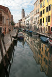 A canal of Venice Italy. Some of the most beautiful part of Venice Italy Royalty Free Stock Photo