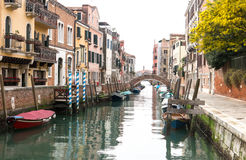 A canal in Venice Royalty Free Stock Photo