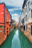 Canal in Venice, Italy at day Royalty Free Stock Photography