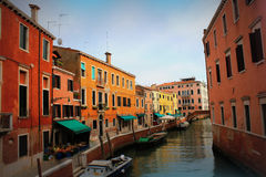 Canal in Venice, Italy. Exquisite buildings along Canals. Royalty Free Stock Images