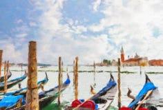 Canal in Venice, Italy. Stock Photos