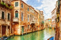 Canal in Venice, Italy. Stock Photo