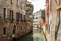 A canal of Venice, Italy. A small canal in Venice, Italy stock image
