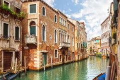Canal in Venice, Italy. Travel background Royalty Free Stock Images