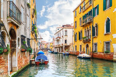 Canal in Venice, Italy. Travel background Royalty Free Stock Image