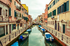 Canal in Venice, Italy. Royalty Free Stock Photography