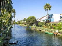 Canal in Venice, Los Angeles Royalty Free Stock Images
