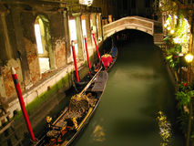 Canal in venice at night Royalty Free Stock Images