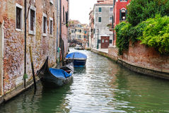 The Canal, Venice. One of the canals in Venice shot from the boat in the day light Royalty Free Stock Photography