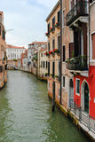 The Canal, Venice. One of the canals in Venice shot from the boat in the day light Royalty Free Stock Images