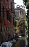 A canal in Venice. A quiet canal in Venice Royalty Free Stock Photo