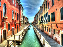 A canal in Venice. A shot of a canal in Venice, Italy Royalty Free Stock Image