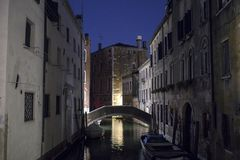 Venice night view, Italy Stock Images