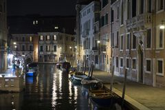 Venice night view, Italy Royalty Free Stock Photography