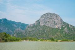 Canal vermelho da montanha, Tailândia Fotos de Stock Royalty Free