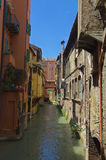 Canal in Via Pella Bologna Royalty Free Stock Image