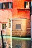 Canal vide de Venise un ruban de lumière photographie stock libre de droits