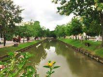 Canal viejo de la ciudad de Chiangmai Foto de archivo libre de regalías