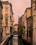 Canal View from Venice , Italy stock photography