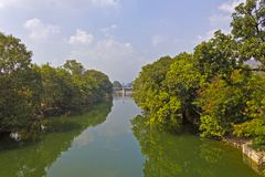 Canal in Vijayawada Royalty Free Stock Photo