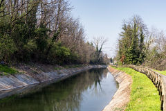 Canal Villoresi in Brianza (Italy) Stock Photo
