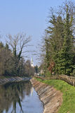 Canal Villoresi in Brianza (Italy) Stock Photography