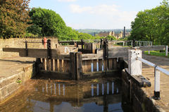 Canal water gate Royalty Free Stock Photos