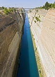 Canal water passage of Corinth in Greece Stock Image