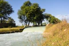 Canal waterfalls. In Aadi Wala Nala - Mianwali Punjab Pakistan Royalty Free Stock Photos