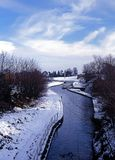 Canal during Winter, Armitage, England. Stock Photos