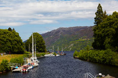 Canal with yachts Royalty Free Stock Photo