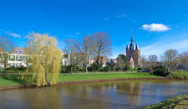Canal in zwolle, netherlands Royalty Free Stock Photos