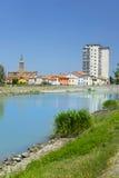 Canalbianko chanel的堤防在阿德里亚的中心 免版税库存照片