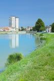 Canalbianko chanel的堤防在阿德里亚的中心 库存照片
