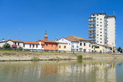 Canalbianko chanel的堤防在阿德里亚的中心 免版税库存图片