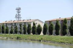 Canalbianko chanel的堤防在阿德里亚的中心 库存图片