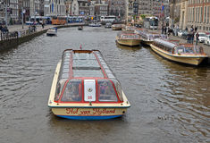 Canalboat di Amsterdam Fotografia Stock Libera da Diritti