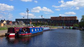 Canalboats, Manchester UK Royalty Free Stock Images