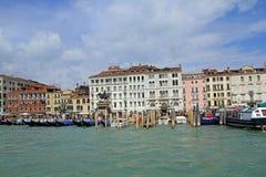 Canale重创在威尼斯 库存照片