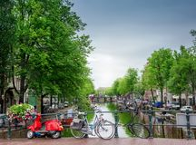 Canale a Amsterdam Fotografie Stock