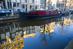 Canale a Amsterdam Immagine Stock