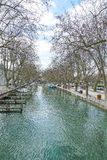 Canale a Annecy, Francia HDR Immagine Stock