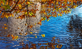 Canale in autunno Fotografia Stock