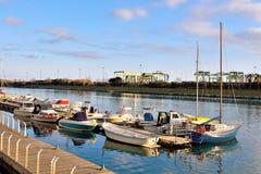 Canale calmo di Pra, Genova fotografia stock libera da diritti